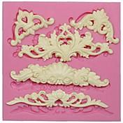 molde de silicona de encaje europeo para la decoración de la torta de la pasta de azúcar