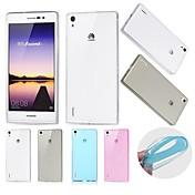 용 화웨이 케이스 울트라 씬 / 투명 케이스 뒷면 커버 케이스 단색 소프트 TPU Huawei Huawei P7