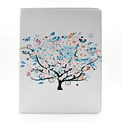 나무 패턴 PU 가죽 케이스 아이 패드 2/3/4를위한 스탠드와 카드 홀더 커버