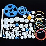 플라스틱 기어 모터 기어 기어 박스 패키지 로봇 액세서리 키트 80가지