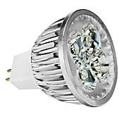4W GU5.3(MR16) LED 스팟 조명 MR16 4 고성능 LED 350 lm 따뜻한 화이트 차가운 화이트 내추럴 화이트 밝기조절가능 DC 12 AC 12 V