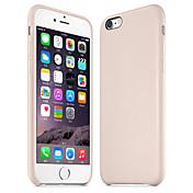 Para Funda iPhone 6 / Funda iPhone 6 Plus Other Funda Cubierta Trasera Funda Un Color Dura Cuero AuténticoiPhone 6s Plus/6 Plus / iPhone