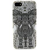 검은 거대한 패턴 소프트 TPU fun® 패션 디자인 코코는 아이폰 5 / 5S에 대한 케이스 커버를 다시 IMD