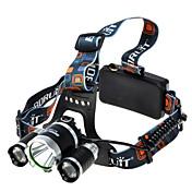 조명 헤드램프 헤드 램프 스트랩 LED 1800 lumens 루멘 4.0 모드 Cree XM-L T6 18650 슈퍼 라이트 캠핑/등산/동굴탐험 알루미늄 합금 고무