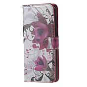 Para Samsung Galaxy Note Carcasa Funda Soporte de Coche Cartera con Soporte Flip Cuerpo Entero Funda Flor Cuero Sintético para Samsung