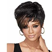 유럽과 미국의 ppopular 높은 품질의 패션 컬러 머리는 자연 웨이브 가발 가발