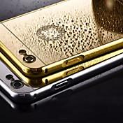 아이폰에 대한 금속 프레임 전화 케이스 다시 거울을 도금 5 / 5S (모듬 색상)