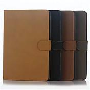 raya retro simple caso del tirón del cuero de la cáscara de apoyo funda de protección para el equipo iphong Mini iPad 4