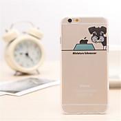 miniatura TPU del patrón del perro schnauzer / material acrílico caso de la contraportada para el iphone 6s más / 6 más