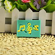 음악 참고 diy 실리콘 초콜릿 푸딩 설탕 케이크 금형 색상 랜덤