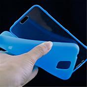 용 삼성 갤럭시 케이스 케이스 커버 플립 투명 풀 바디 케이스 단색 TPU 용 Samsung S5