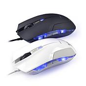 e-3lue cobra ems109bk alta ratón de juego de precisión con 1600dpi control lateral