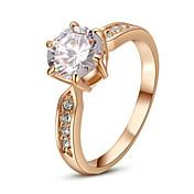 문자 반지 크리스탈 모조 다이아몬드 합금 클래식 패션 실버 골든 보석류 결혼식 파티 1PC