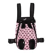 고양이 / 강아지 캐리어&여행용 배낭 / 전면 배낭 애완동물 커버 휴대용 / 리본장식 핑크 면