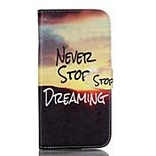 용 Samsung Galaxy S7 Edge 지갑 / 카드 홀더 / 스탠드 / 플립 케이스 풀 바디 케이스 풍경 인조 가죽 Samsung S7 plus / S7 edge / S7