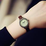 Women's Fashion Watch Casual Watch Quartz Leather Band Vintage Black Brown Strap Watch