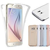 용 Samsung Galaxy S7 Edge 투명 케이스 풀 바디 케이스 단색 TPU Samsung S7 edge / S7 / S6 edge / S6