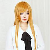 코스프레 가발 Sword Art Online Asuna Yuuki 오렌지 롱 스트레이트 에니메이션 코스프레 가발 80 CM 열 저항 섬유 여성