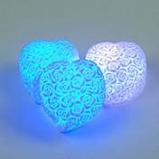 주도 심장 모양의 꽃 밤 빛 무지개 7 색 변화 램프 새겨진 구호 분위기 야간 실내 조명 발렌타인 연인 임의의 색상을 장미