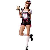 코스프레 코스츔 파티 코스튬 옥토버페스트 웨이터/웨이터리스 직업 의상 페스티발/홀리데이 할로윈 의상 패치 워크 레오타드/올인원 탑 모자 할로윈 옥토버페스트 여성