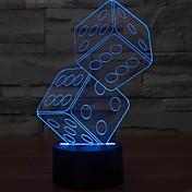 3 차원 환상 입체 체 밤 빛 LED 테이블 램프를 anteresting