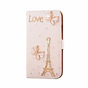 For Samsung Galaxy Case Card Holder / Rhinestone / Flip Case Full Body Case Eiffel Tower PU Leather SamsungS7 edge / S7 / S6 edge plus /