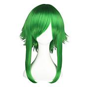 코스프레 가발 보컬로이드 Gumi 녹색 중간 에니메이션 코스프레 가발 55 CM 열 저항 섬유 남성 / 여성