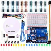 Uno kit de inicio del proyecto básico con tutorial y Uno R3 para Arduino