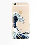 아이폰 기가 6 아이폰 7 플러스 파도 패턴 TPU 소재 휴대 전화 케이스 플러스