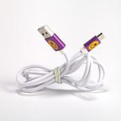 USB 2.0 Micro USB 2.0 Normal Cable Para Samsung Huawei Sony Nokia HTC Motorola LG Lenovo Xiaomi 150 cm PVC