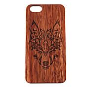 아이폰 7 플러스 나무 케이스는 아이폰 기가 6 플러스 자체 5 초 5 하드 다시 커버를 숲 늑대 토템을 팀버울브스