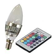 E14 LED 스마트 전구 C35 1 고성능 LED 100-230 lm RGB 리모컨 작동 AC 85-265 V 1개