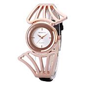 REBIRTH 아가씨들 패션 시계 손목 시계 캐쥬얼 시계 석영 / PU 밴드 캐쥬얼 블랙