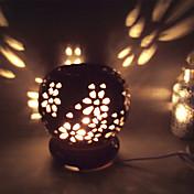 1PC 세라믹 플러그 인 전기 향기 램프 작은 야간 조명 검은 색 유약 원 에센셜 오일 램프를 중공