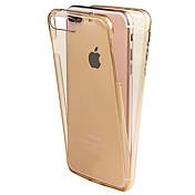 Para iPhone X iPhone 8 Carcasa Funda Other Cuerpo Entero Funda Color sólido Suave TPU para Apple iPhone X iPhone 8 Plus iPhone 8 iPhone 7