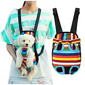 고양이 강아지 캐리어&여행용 배낭 전면 배낭 애완동물 바구니 스트라이프 휴대용 줄무늬