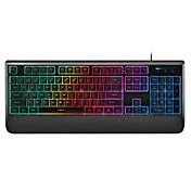 104keys teclado para juegos rapoo toque mecánica V56 ergonómica multimedias retroiluminada resistente al agua USB teclado con cable