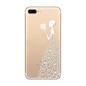 용 울트라 씬 / 투명 / 패턴 케이스 뒷면 커버 케이스 애플로고 관련 소프트 TPU Apple 아이폰 7 플러스 / 아이폰 (7) / iPhone 6s Plus/6 Plus / iPhone 6s/6 / iPhone SE/5s/5