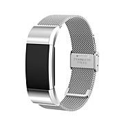 블랙 / 로즈 / 골드 / 실버 스테인레스 스틸 밀라노 루프 용 핏빗 손목 시계 10mm