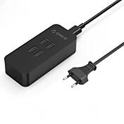 고속 충전 홈 충전기 / 휴대용 충전기 EU 플러그 4 USB 포트 케이블과 iPad 용 / 핸드폰의 경우 / 다른 패드 / For iPhone(5V , 2.4A)