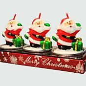 크리스마스 촛불 귀여운 산타 클로스 모양 3PCS