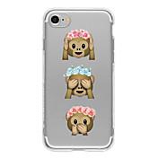 용 아이폰7케이스 / 아이폰7플러스 케이스 / 아이폰6케이스 패턴 케이스 뒷면 커버 케이스 카툰 소프트 TPU Apple아이폰 7 플러스 / 아이폰 (7) / iPhone 6s Plus/6 Plus / iPhone 6s/6 / iPhone