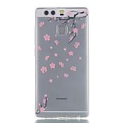 화웨이 p9 p9 lite 타락 된 꽃 패턴 높은 투자율 tpu 소재 전화 케이스