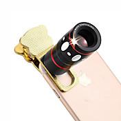 4 1 보편적 인 클램프 카메라 렌즈 (망원 렌즈 / 어안 렌즈 / 광각 렌즈 / 매크로 렌즈)에