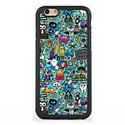 용 패턴 케이스 뒷면 커버 케이스 카툰 하드 알루미늄 Apple 아이폰 7 플러스 / 아이폰 (7) / iPhone 6s Plus/6 Plus / iPhone 6s/6 / iPhone SE/5s/5 / iPhone 5c / iPhone 4s/4
