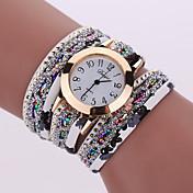 Mujer Reloj de Moda Reloj de Pulsera Reloj de Collar Reloj Pulsera Cuarzo Colorido Aleación BandaCosecha Destello Bohemio Encanto