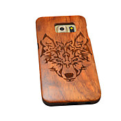 천연 나무 삼성 케이스는 갤럭시 S6 에지 + / S6 에지 / S6를 위해 숲 늑대 토템 하드 다시 커버를 팀버울브스