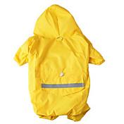 Perro Impermeable Ropa para Perro A Prueba de Agua Deportes Sólido Amarillo Rojo Azul camuflaje de color