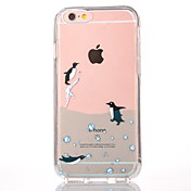 For Apple iPhone 7 7Plus 6S 6Plus Case Cover Penguin Pattern PC Backplane TPU Frame Separable Combo Simple Phone Case