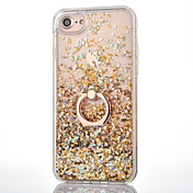 Para iPhone 8 iPhone 8 Plus iPhone 7 iPhone 7 Plus iPhone 6 Carcasa Funda Líquido Soporte para Anillo Cubierta Trasera Funda Brillante